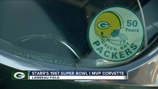 Bart Starr Superbowl I Corvette displayed at Lambeau - Video