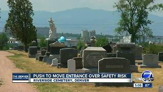 Construction project could move entrance of historic Riverside Cemetery - Video