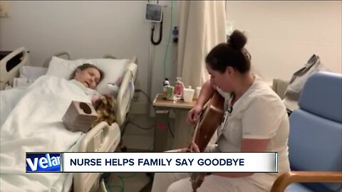 Medina nurse performs heartwarming song for patient being moved to hospice care
