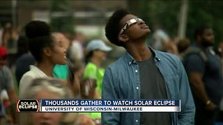 Thousands gather at UWM to watch solar eclipse - Video