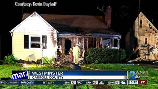 Man escapes from burning home in Westminster