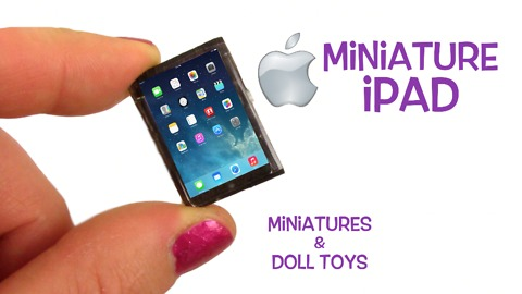 Miniature Apple iPad DIY tutorial
