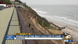 Residents fear iconic beach could lose its charm - Video