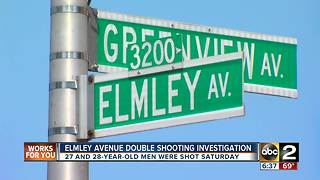 Double shooting investigation in Northeast Balitmore - Video