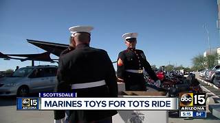 Marine's 'Toys for Tots' ride through the Valley - Video