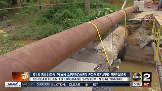 $1.6 billion plan approved for Baltimore sewer repair - Video