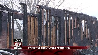 Fire destroys family home