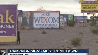 Campaign signs still up days after city deadline - Video