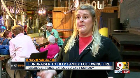 Friends raise funds for family left homeless by explosion