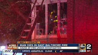 Man pulled from fire in East Baltimore dies from his injuries