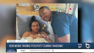 New moms finding positivity during the pandemic