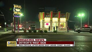 Man shot at Nicky D's Coney Island in Detroit