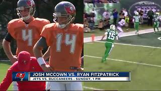 Aging quarterbacks Ryan Fitzpatrick, Josh McCown proving worth to Buccaneers and Jets - Video