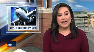 Flight diverted from Appleton due to medical emergency - Video