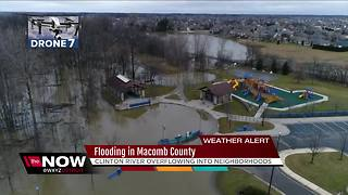 Clinton River floods in Macomb County after February rain - Video