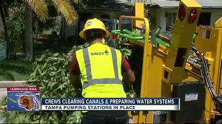 City of Tampa secures pumping stations, water supply ahead of Irma - Video