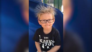 """""""Hairstyle WIN: Little Boy Owning Static Hair"""""""