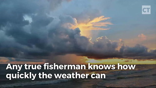 Fishermen Regret Going Out The Second The Hail Starts - Video