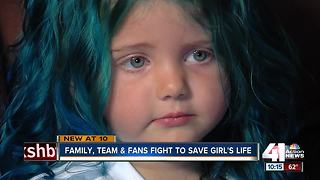 Sporting KC rallies around 5yo girl with cancer