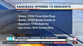 Sandbags Being Offered to Residents - Video