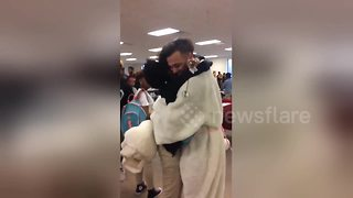 Man in Easter bunny costume surprises girlfriend with prom proposal - Video