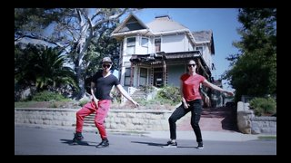 Dynamic duo perform dubstep dance to Michael Jackson's 'Thriller'