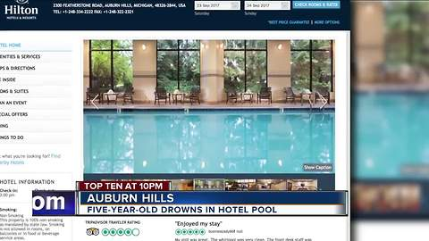 5-year-old boy drowns in pool at hotel in metro Detroit