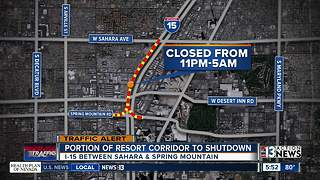 Traffic Alert: I-15 Southbound closed between Sahara and Spring Mountain