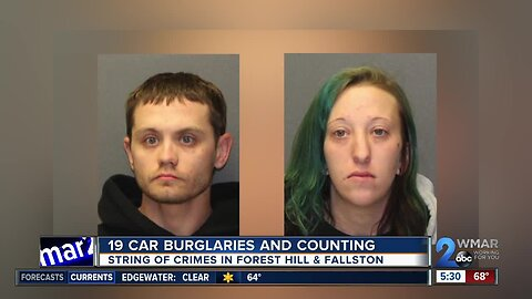 19 car burglaries and counting in Harford County