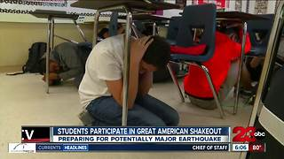 Students participate in Great California ShakeOut - Video