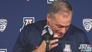 Rich Rodriguez gets emotional when talking his children. - Video