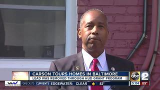 HUD Secretary Ben Carson working to reduce lead in Baltimore homes - Video