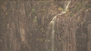 Waterfalls forming in Superstition Mountains