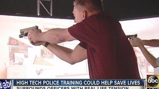 High-tech training could help save police lives - Video