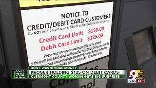 Kroger gas pumps put $125 hold on debit card - Video