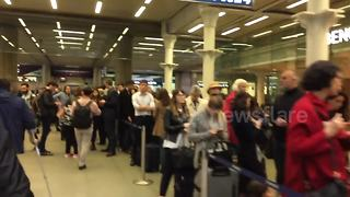 Massive queues at St Pancras over Eurotunnel signal failure - Video