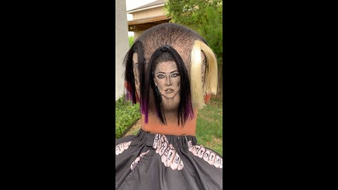 Mind-blowing haircut art depicts Kardashian sisters in 3D