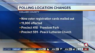 Polling location changes for Collier County