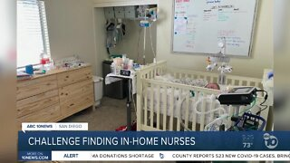 Escondido family has challenges finding in-home nurses