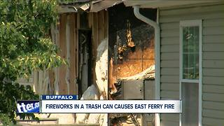 E. Ferry townhome catches fire from fireworks - Video