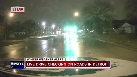 Live Drive: Checking out icy roads in Detroit
