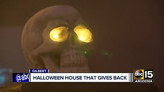 Gilbert Halloween house that gives back to community - Video