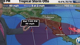 Tropical Storm Otto forms in the Caribbean - Video