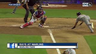 Yadiel Rivera's infield hit in 10th inning gives Miami Marlins 3-2 win over Tampa Bay Rays