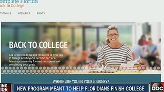 USF joins 'Complete Florida' to help returning students get a degree - Video