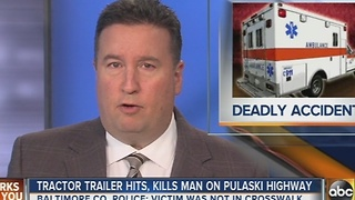 Man killed in crash on Pulaski Highway in Baltimore County - Video