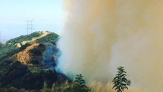 Over 100 Firefighters Respond to Brush Fire in Brentwood - Video