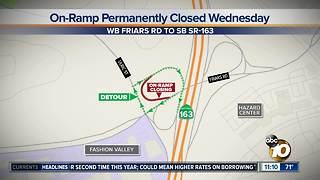 Mission Valley on-ramp permanently closed - Video