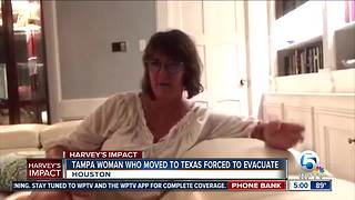 Former Florida resident displaced by Hurricane Harvey - Video