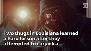 Would-Be Carjacker Runs Into a Rajun' Cajun - Video